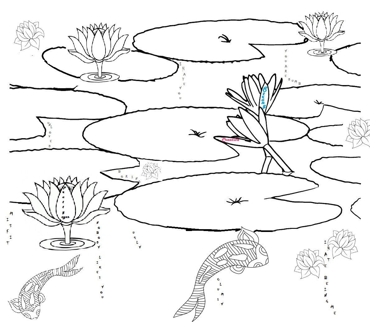 1189x1037 Printable Pond Habitat Coloring Page Ponds Pond