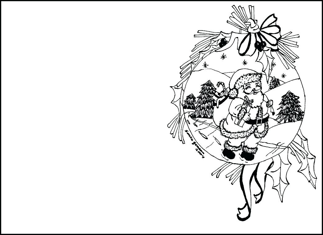 1050x763 Santa Christmas Coloring Pages Claus For Toddlers Page Paper