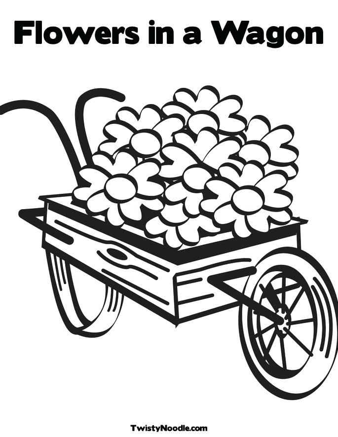 685x886 Covered Wagon Coloring Page Wagon Train Coloring Pages Pioneer