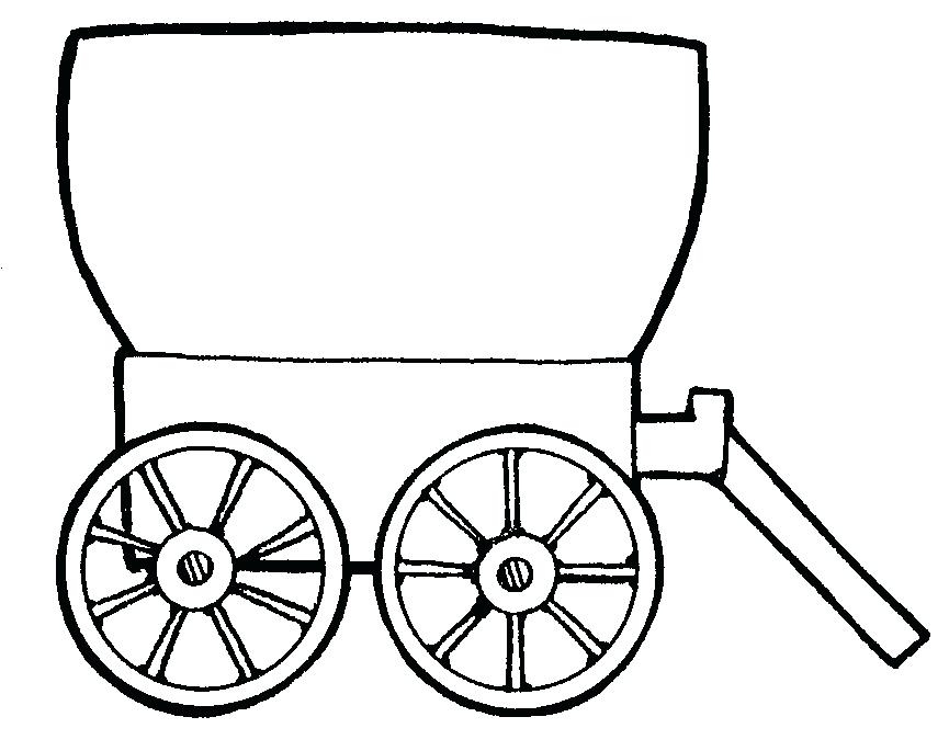 865x685 Covered Wagon Coloring Page Western Wagon Coloring Pages Covered