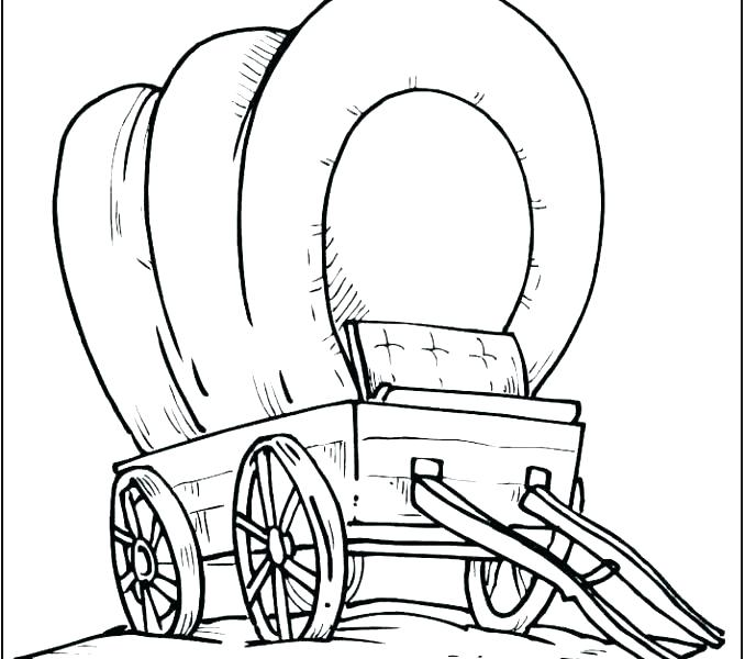 678x600 Pioneer Covered Wagon Coloring Page Tiny Horse Covered Wagon