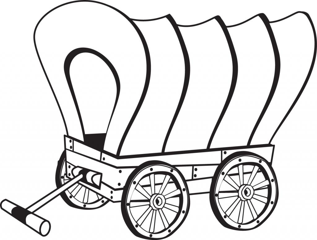1024x776 Chuck Wagon Coloring Page