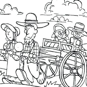 350x350 Pioneer Stories Coloring Page Pioneer Day Covered Wagon Coloring