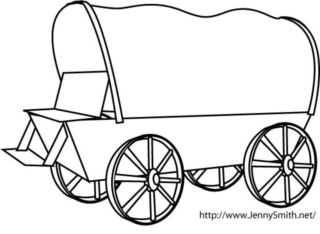 1024x750 The Inspiring Covered Wagon Coloring Page Page Throughout