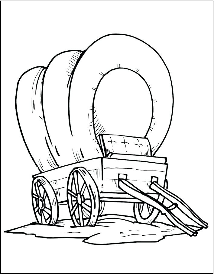 708x908 Wagon Coloring Pages Covered Wagon Coloring Page Wagon Coloring