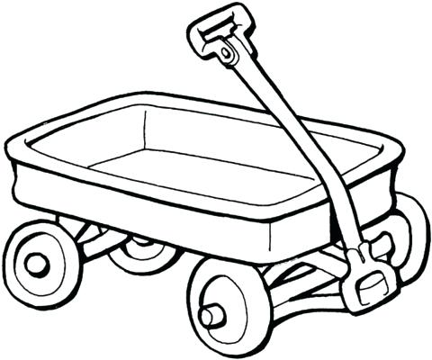480x400 Wagon Coloring Pages Wagon Coloring Page Covered Wagon Coloring