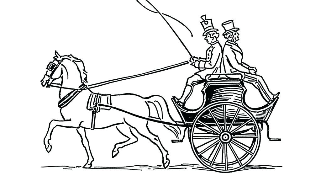 1024x561 Wagon Coloring Pages Wagon Coloring Page Horses At Work Coloring