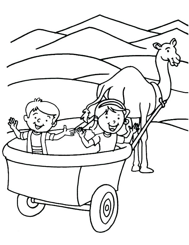 612x792 Hay Wagon Coloring Page Wagon Coloring Page Covered Wagon Coloring