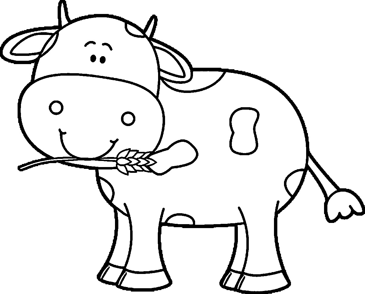 1203x968 Coloring Page Of Mother Cow And Calf To Print Sheet Within