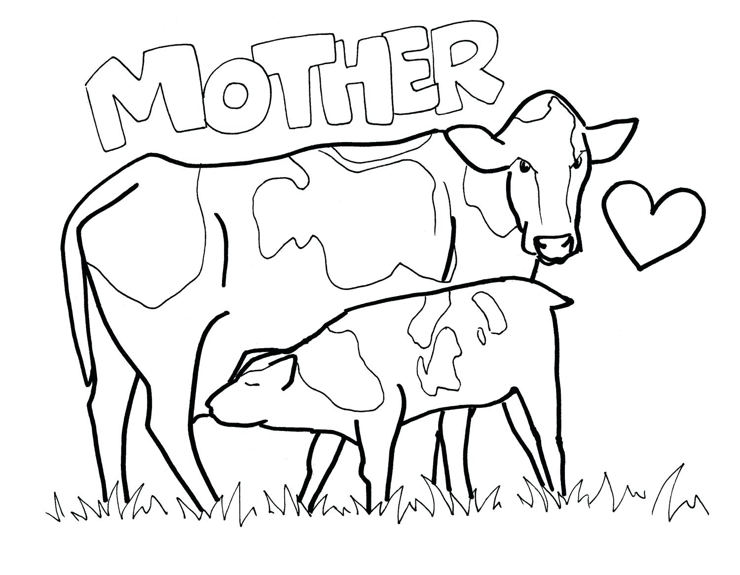 1500x1166 Coloring Pages Christmas Vector Illustration Cartoon Cow Book