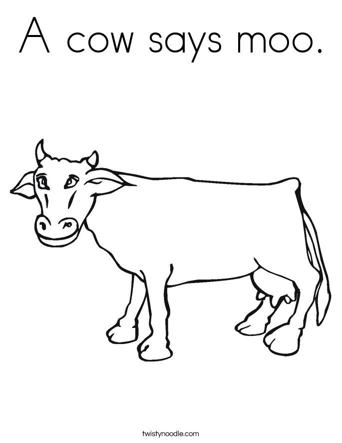 685x886 A Cow Says Moo Coloring Page