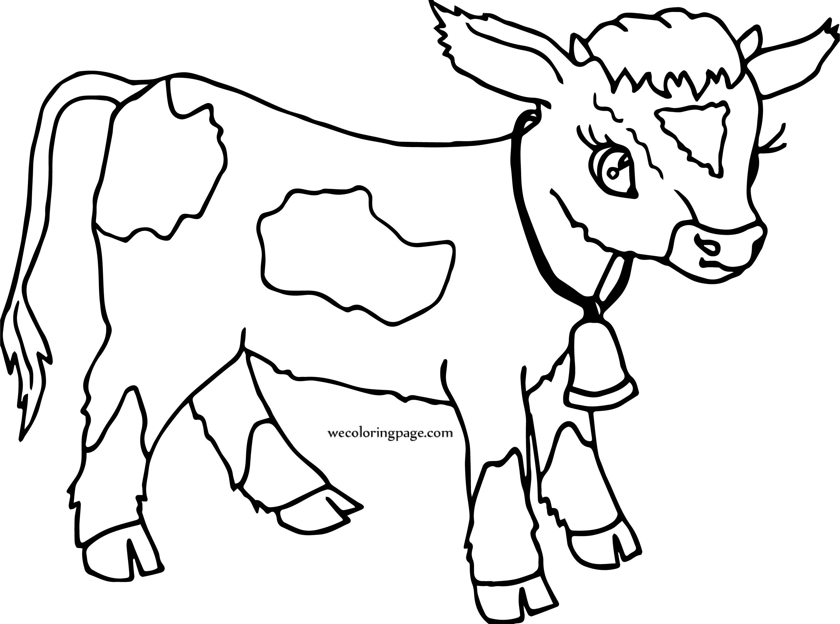 2729x2028 Cartoon Cow Calf Coat Coloring Page Wecoloringpage