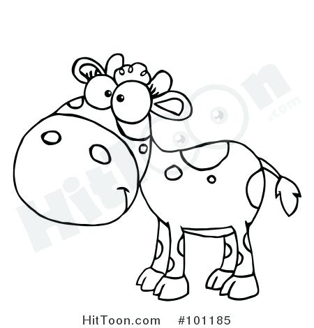 450x470 Coloring Pages Cow Coloring Page Vector Of A Cartoon Dancing