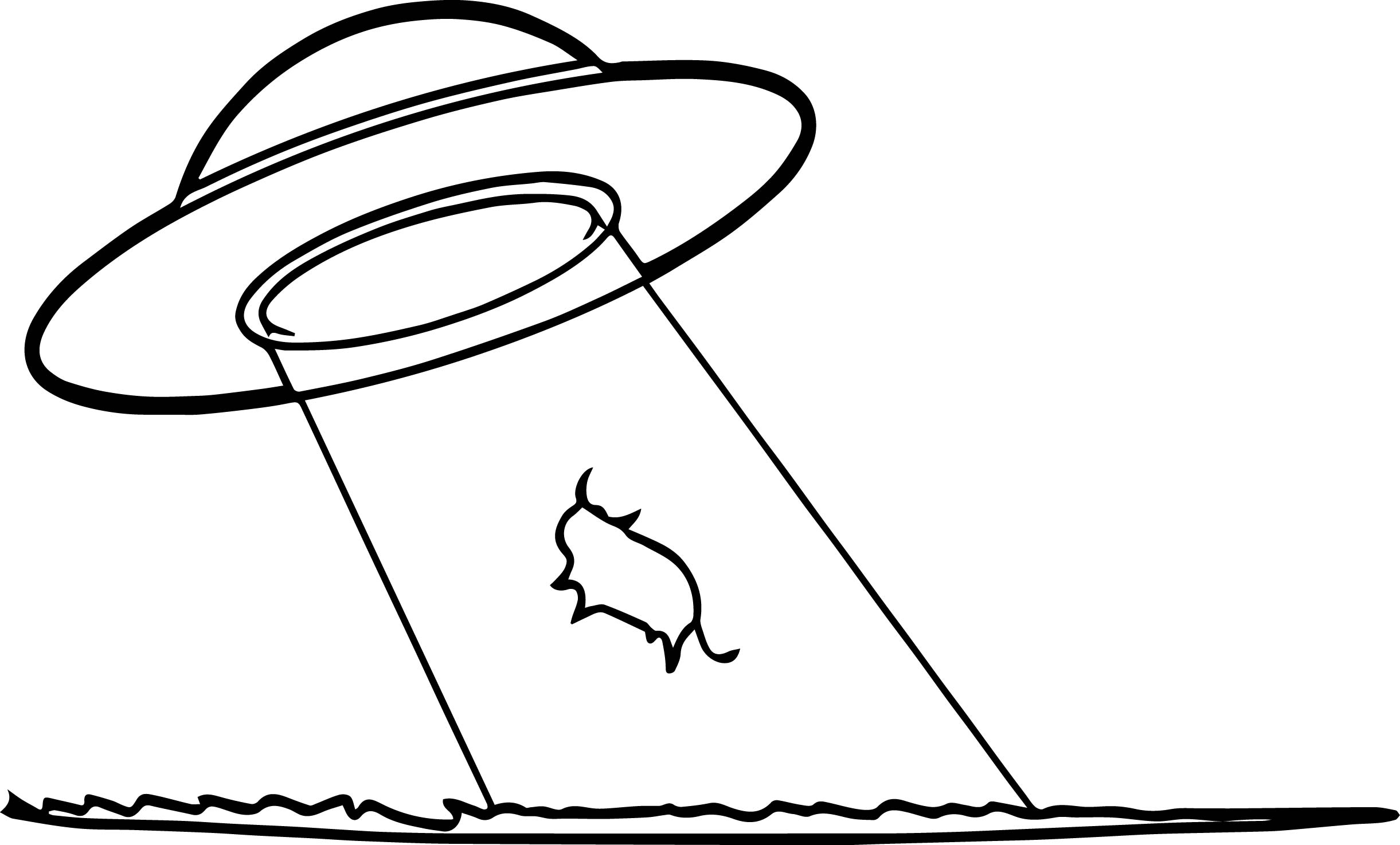 2442x1475 Cow Abduction Coloring Page Wecoloringpage