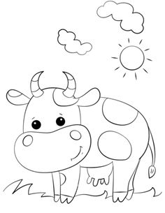 236x305 Cow Coloring Page Worksheets, Cow And Farming