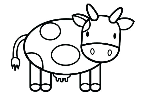 600x413 Cow Coloring Page Cute Cow Coloring Pages Cute Cartoon Coloring