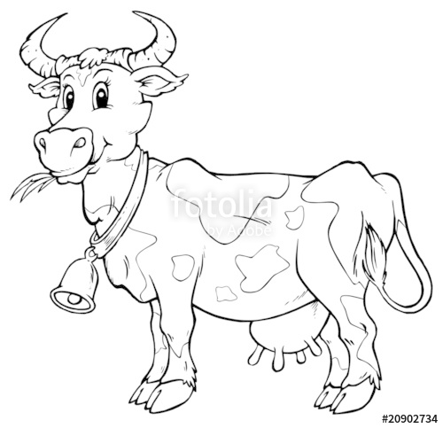 500x483 Farm Animal Cow