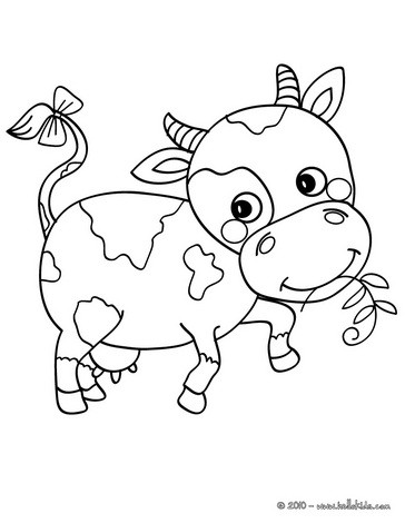 364x470 Lovely Cute Cow Coloring Page Cute And Amazing Farm Animals