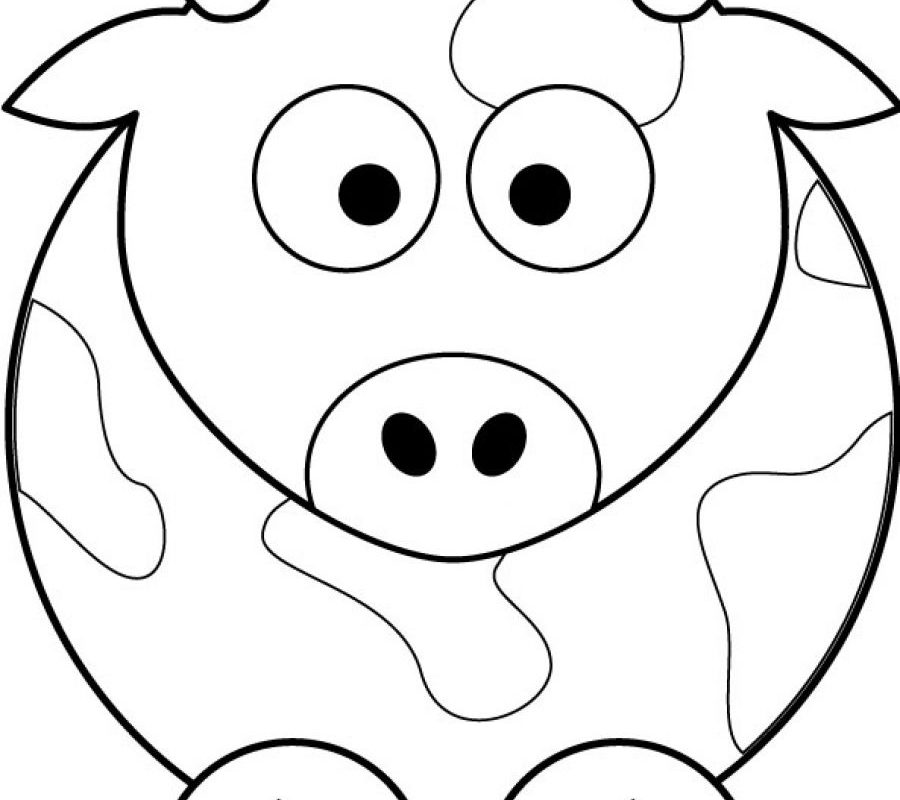 900x800 Baby Elephant Coloring Page To Print Color Impressive Pages Cow
