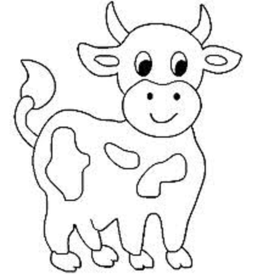 900x900 Animals Cow, Kids Colouring