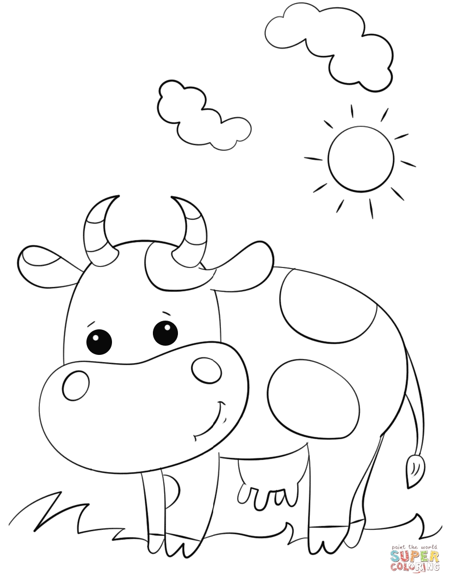 882x1142 Cartoon Cattle Coloring Pages Collection Coloring For Kids