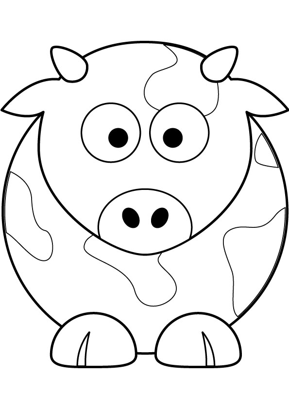 595x842 Lovely Cartoon Cow Coloring Pages Gallery Diy Coloring Page
