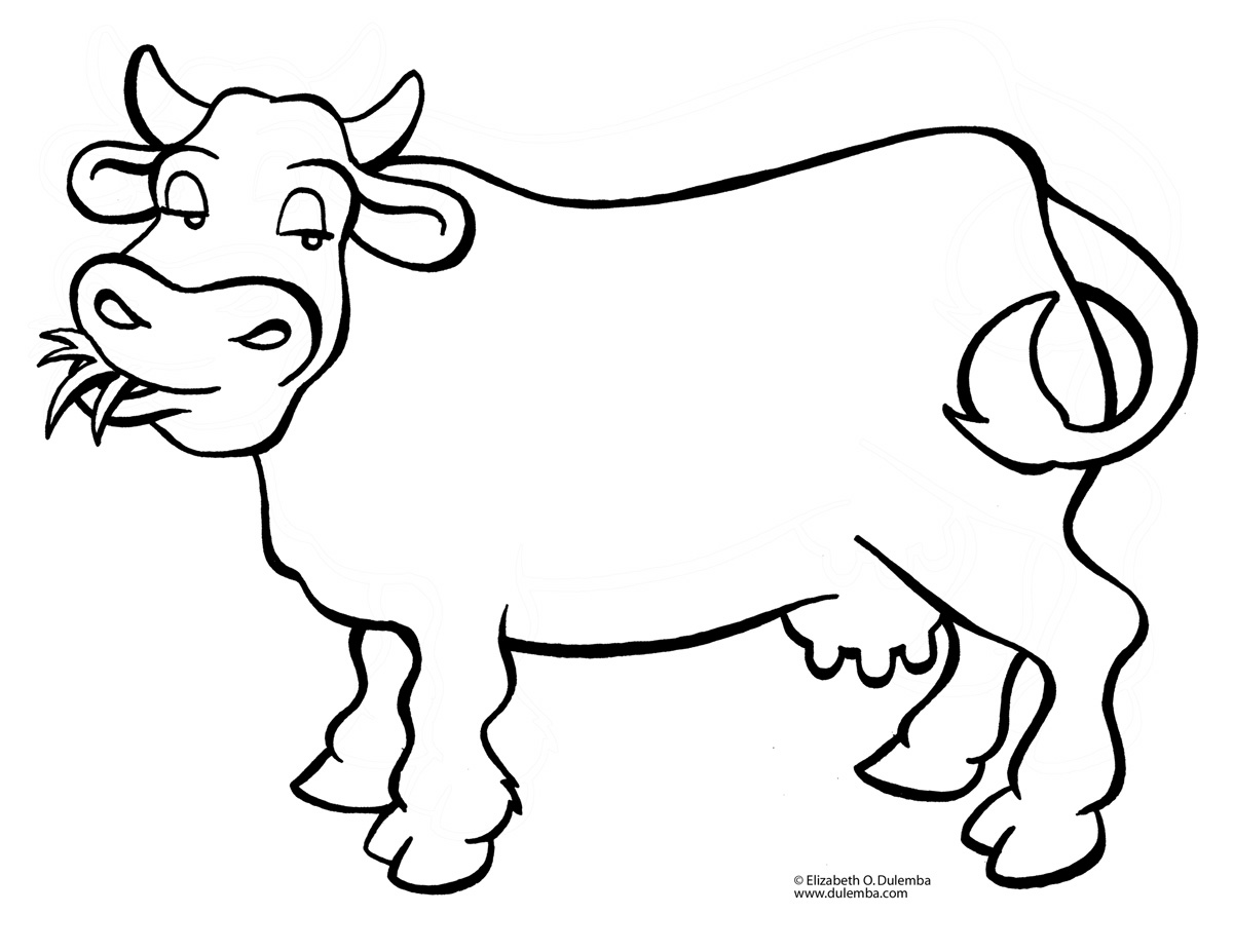 1200x927 Simple Cartoon Cow Coloring Pages Newyork Rp Com