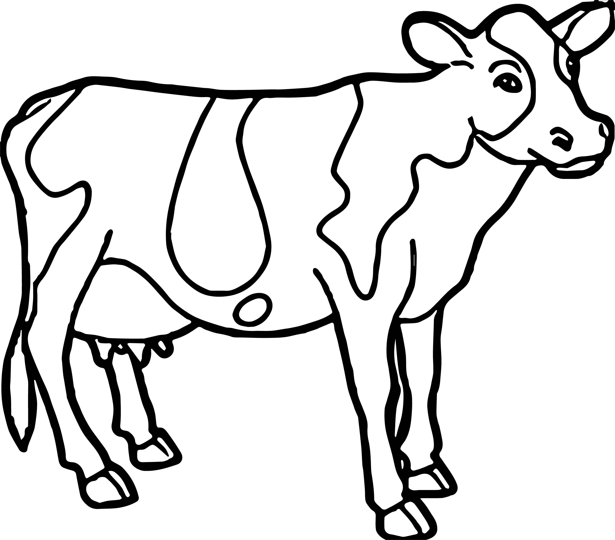 2488x2185 Cow Coloring Page Pages Farm Animal Ribsvigyapan Ba Cow Cow