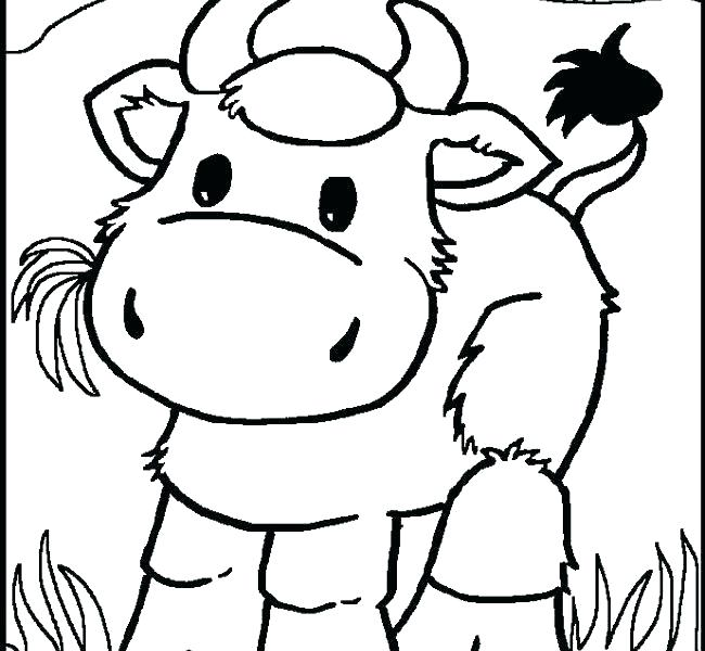 650x600 Cow Color Page Cow Coloring Pages Cow Colouring Sheet Coloring