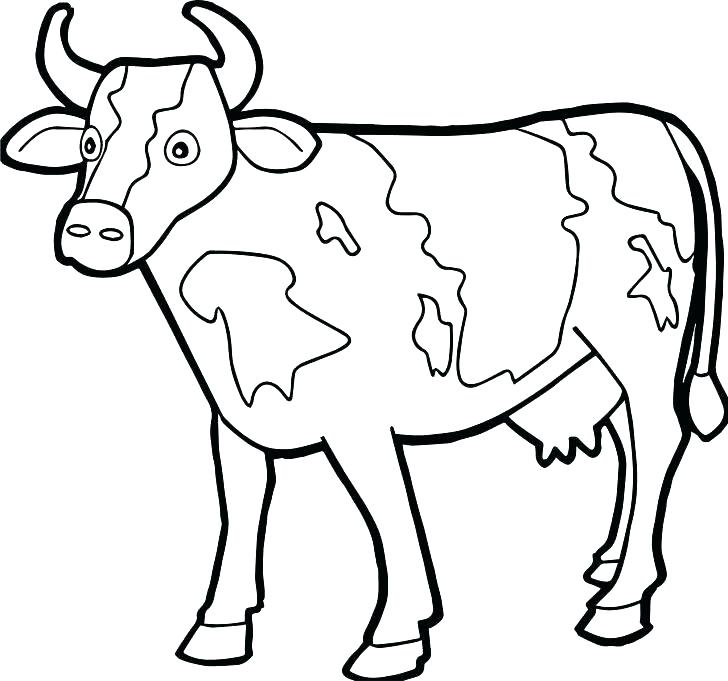 728x681 A Coloring Page Cow Coloring Pages Cow Coloring Page Farm Animal