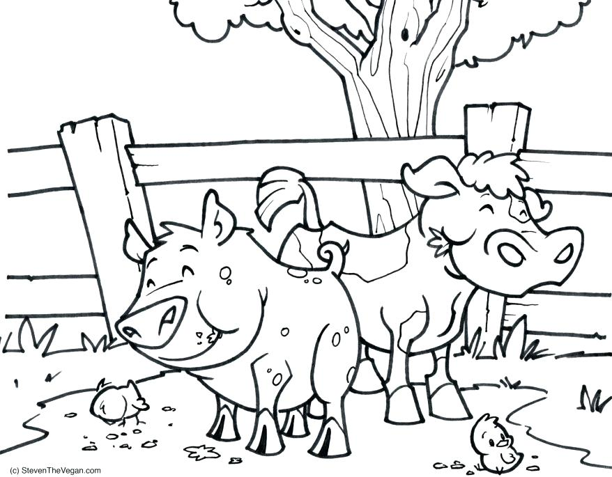 878x685 Awesome Coloring Books For Adults As Cool Coloring Pig And Cow