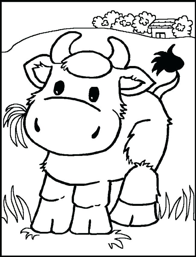 650x849 Printable Color Pages Cow Printable Coloring Pages Cute Cow