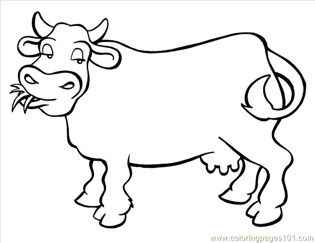 650x502 Cow Coloring Pages Cow Big Coloring Page Coloring Pages For Kids