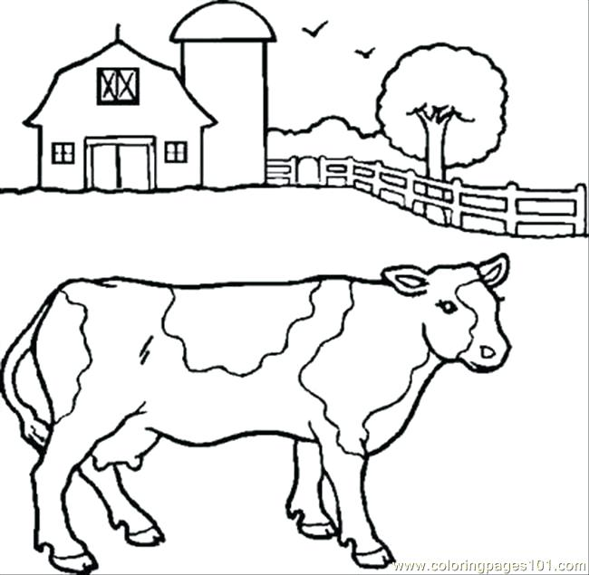 650x635 Cow Coloring Pages Cow Coloring Pages Coloring Pages Printable