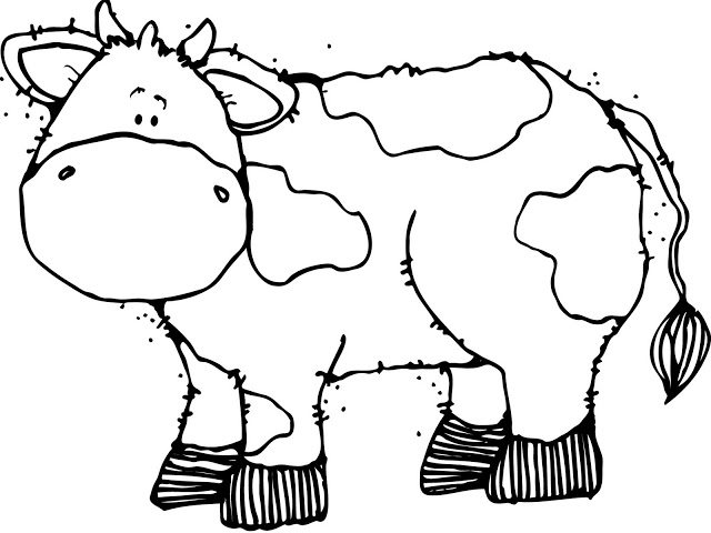 640x480 Cute Cow Coloring Pages