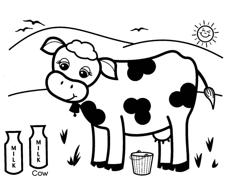 769x600 Coloring Page Of A Cow Printable Pages On Cows Coloring Pages