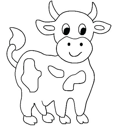 434x434 Cow Coloring Page Drawn Cattle Coloring Page Pin Cow Pencil