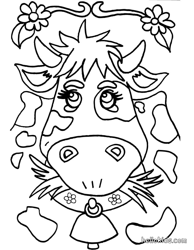 820x1060 Cute Cow Coloring Pages