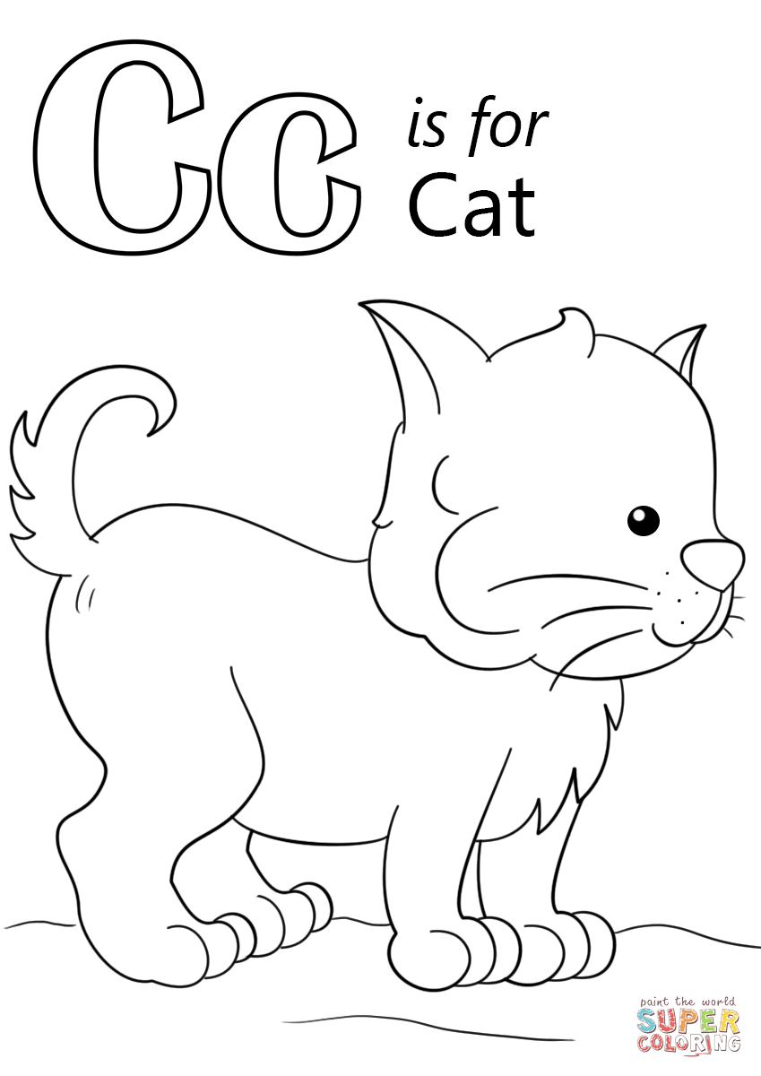 849x1200 Letter C Is For Cat Coloring Page Free Printable Coloring Pages