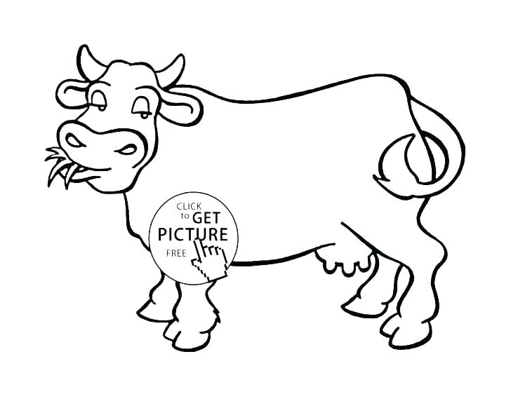 728x562 Cartoon Cow Coloring Pages