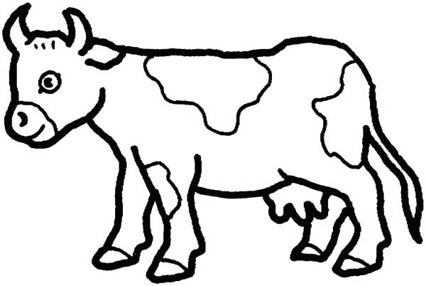 600x402 Innovative Decoration Cow Coloring Pages Cow Big Coloring Page