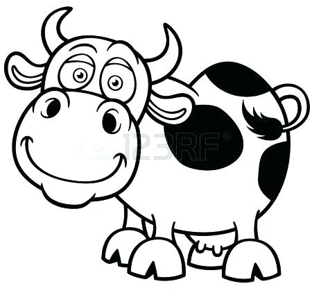 450x422 Cow Head Coloring Page