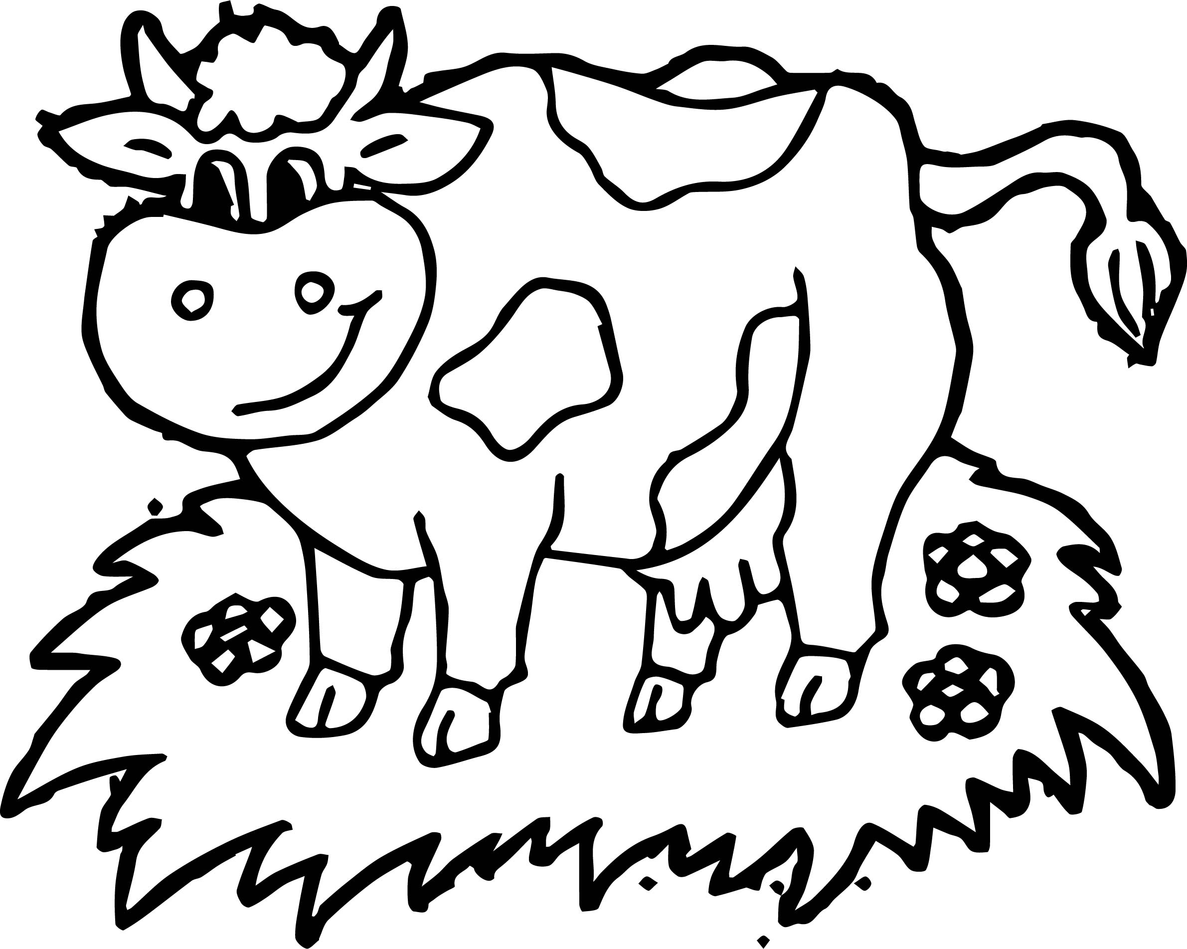 2381x1903 Coloring Page Of A Cow