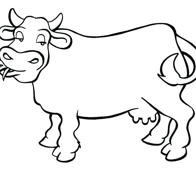 678x600 Coloring Page Of A Cow Simple Cow Coloring Pages For Kids Info Cow
