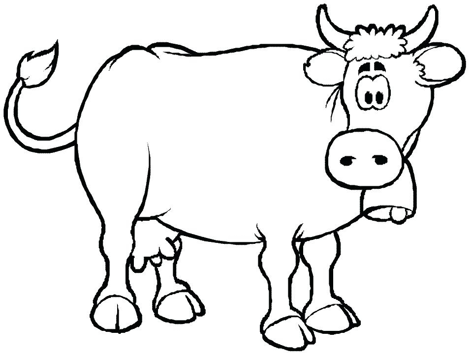 957x718 Coloring Pages Animals Cow Cow Head Coloring Page Mycosedesongles