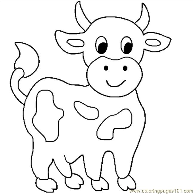 Cow Printable Coloring Pages At Getdrawings Com Free For Personal