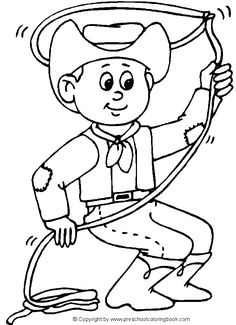 Cowboy And Cowgirl Coloring Pages