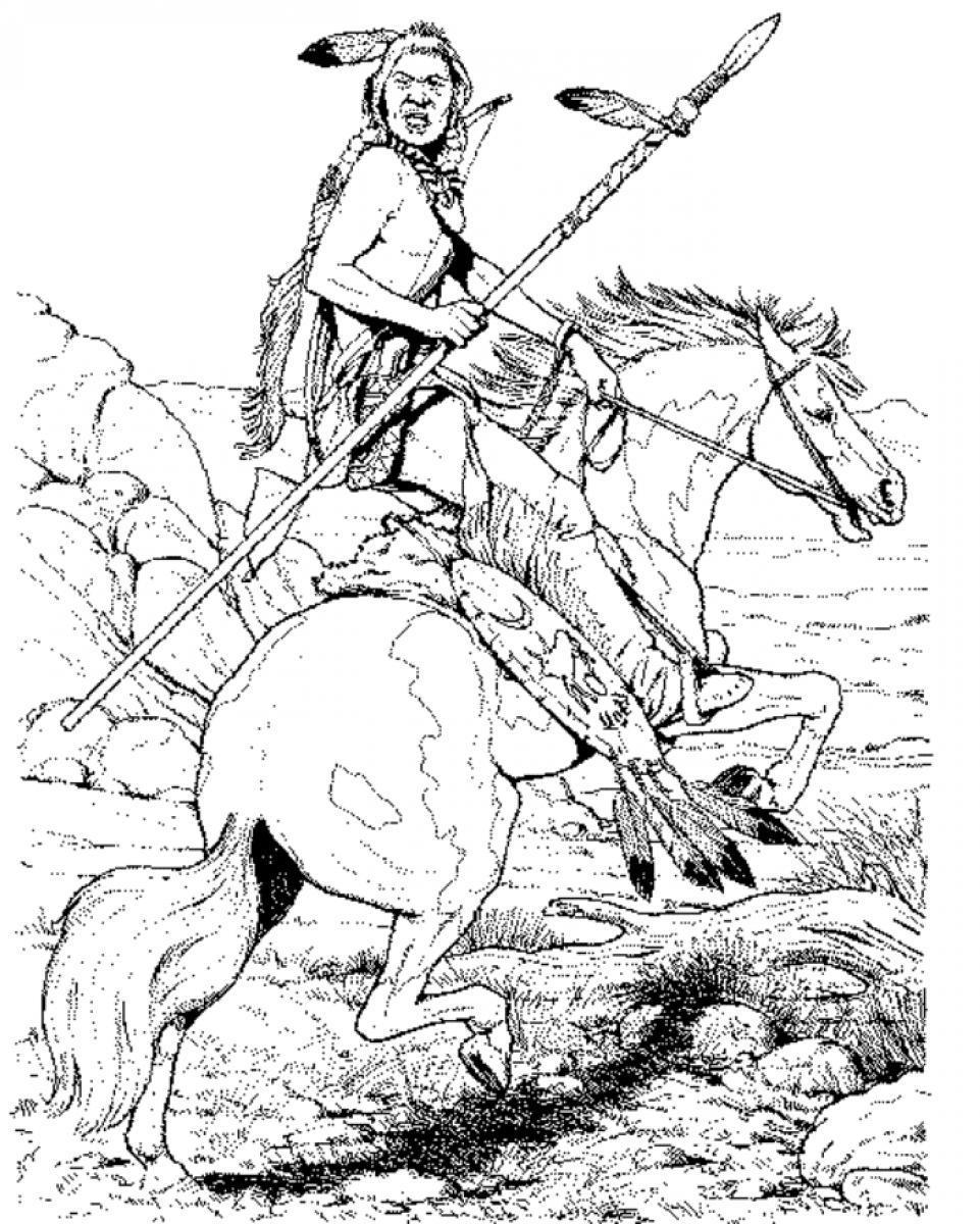 961x1200 Cowboy Horse Coloring Pages