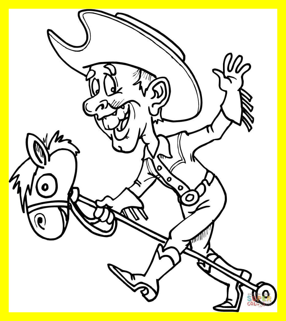 1121x1259 Appealing Interesting Cowboy To Color On Bucking Horse Coloring