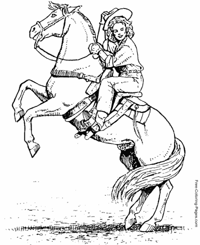 400x490 Horse Coloring Pages, Sheets And Pictures